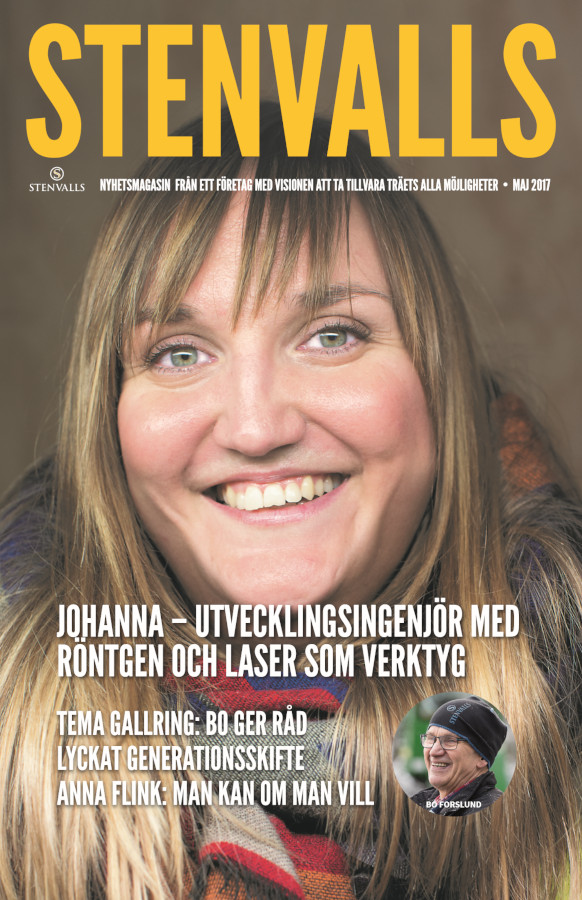 Photography of the cover of Stenvalls Magazine